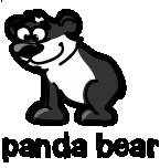 illustration of a cartoon panda bear