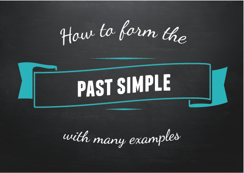 Text ribbon: How to form the past simple (with many examples)