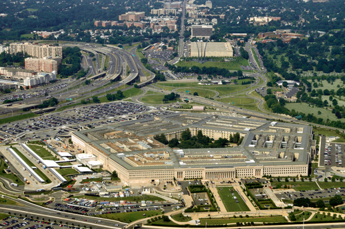 Arial view of the Pentagon