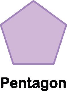 illustration of a pentagon shape with five sides