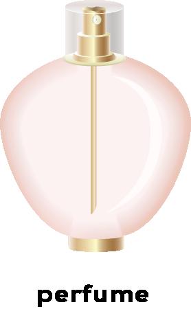Illustration of a bottle of parfume