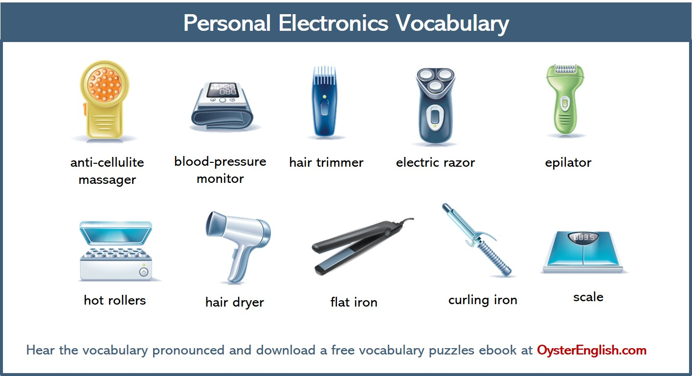 A collection of the different personal electronic devices illustrations featured on this page.