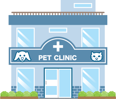 Illustration of a pet clinic