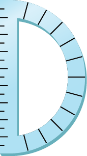 Illustration of a protractor