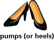 illustration of a pair of pumps (heels)
