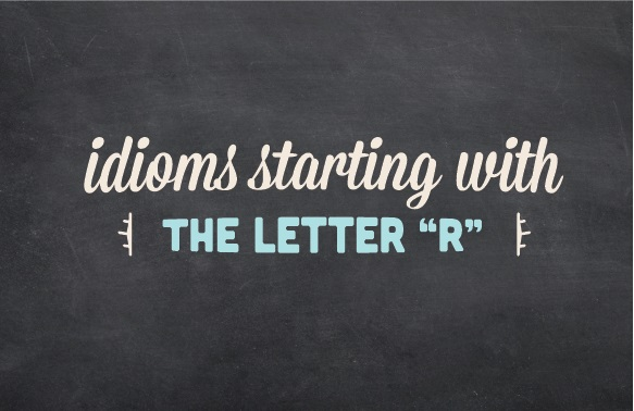 A decorative logo with the words: Idioms starting with the letter
