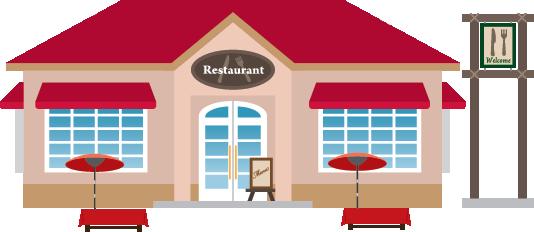 Illustration of a restaurant exterior