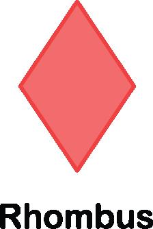 illustration of a rhombus shape