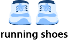 illustration of a pair of running shoes