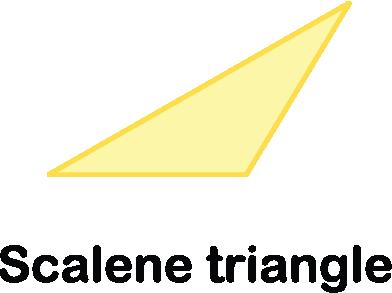 illustration of a scalene triangle shape
