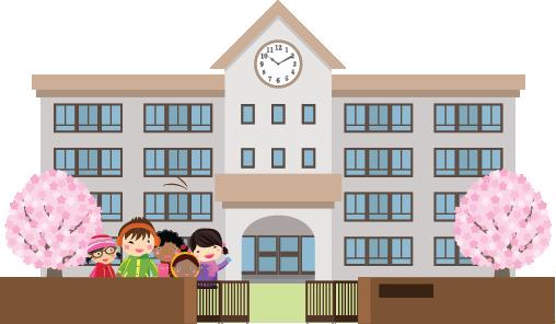 Illustration of a school exterior