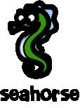 illustration of a cartoon seahorse