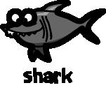 illustration of a cartoon shark