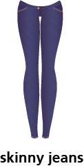illustration of a pair of skinny jeans