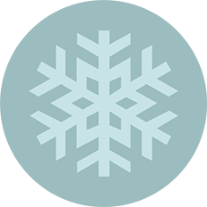 round icon with snowflake