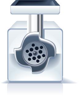 Illustration of a pasta maker machine
