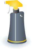 Illustration of a spray bottle cleaner