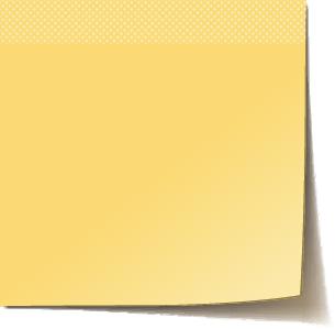 Illustration of a sticky note