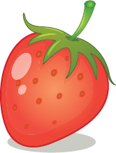Illustration of a strawberry