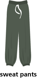 illustration of a pair of sweat pants