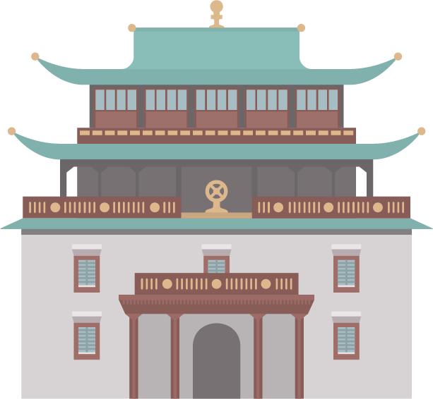 Illustration of a temple