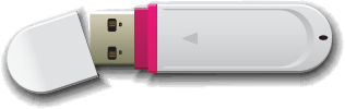 Illustration of a USB flash drive