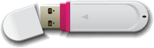 Illustration of a USB flash drive