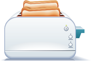 Illustration of a toaster