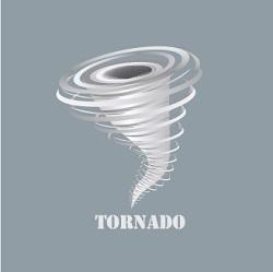 illustration of tornado