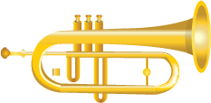 Illustration of a trumpet