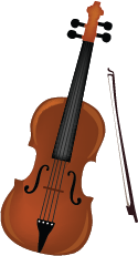Illustration of a violin