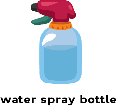 Illustration of a water spray bottle