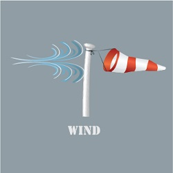 Illustration of a wind sock tool