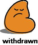 Cartoon blob shape that looks withdrawn