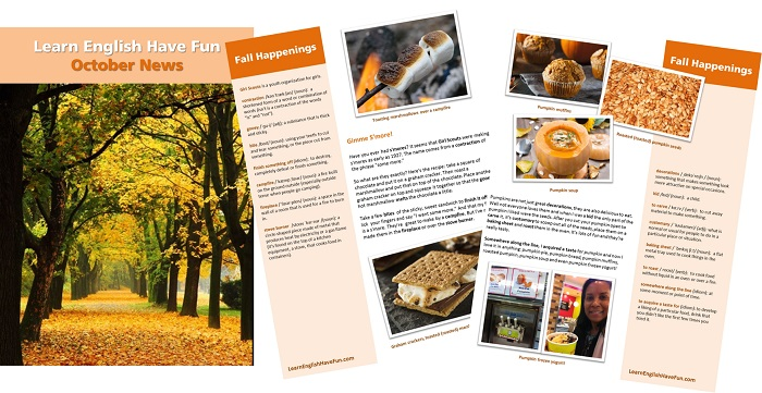 Thumbnail image of October Newsletter magazine spread
