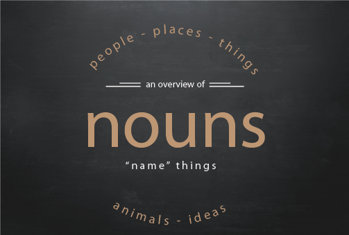Text visual of nouns