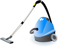 Illustration of a vacuum cleaner
