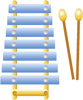 Illustration of a xylophone